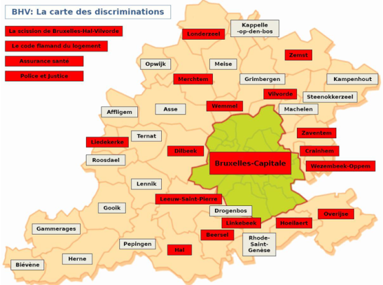 Linguistic Discriminations in Brussels Region