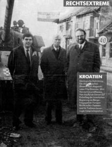 Het Vlaams Blok bezoekt Kroatië in de oorlog