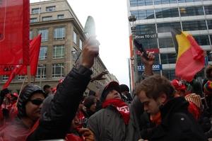 Actie Sans Papiers in Brussel