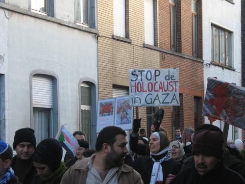 Betoging in Gent op 17 jan 2008 Solidariteit met Gaza